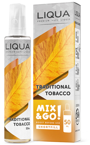 Traditional Tobacco Mix & Go Shortfill Liqua Ejuice